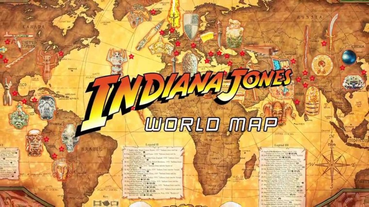 indiana jones map