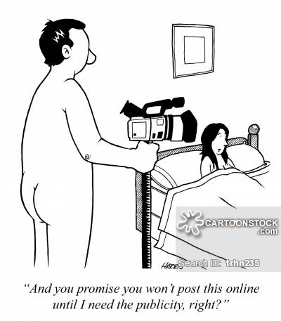 'And you promise you won't post this online until I need the publicity, right?'
